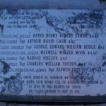 Memorial plaque at the crash site of Avro Lancaster Mk.III NE132, Foel Ddu, Rhinog Fawr, Harlech