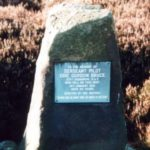 Memorial at the crash site of Hurricane P3522 on Caldbergh Moor, Colsterdale, Yorkshire