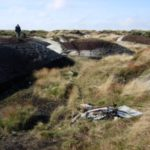 The crash site of Fairey Swordfish P4223 at Heydon Head, Black Hill