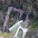Undercarriage from Armstrong Whitworth Whitley P5041 at Balmavicar, Mull of Kintyre