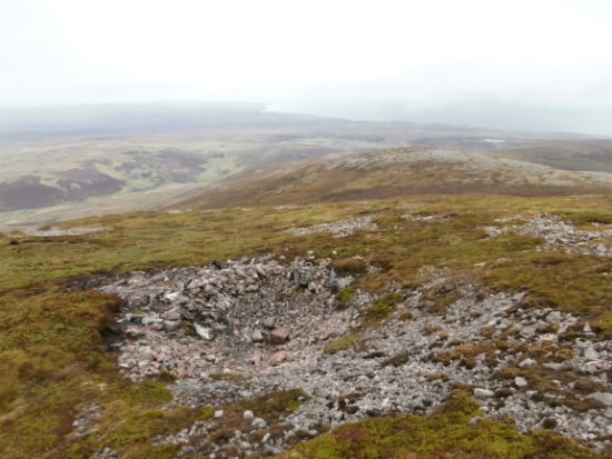 Crater at the crash site of Armstrong Whitworth Whitley Mk.V P5070 on East Scaraben, Berriedale, Caithness