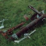 Undercarriage leg at the crash site of Armstrong Whitworth Whitley Mk.V P5090 in Fathan Glinne, Balquidder
