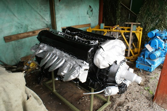Engine recovered from the crash site of Avro Lancaster Mk.III PB456 on Conic Hill near Loch Lomond