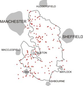 Peak District Crash Site Map