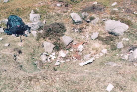 Crash site of Supermarine Spitfire PK617 on Commondale Moor, North Yorkshire