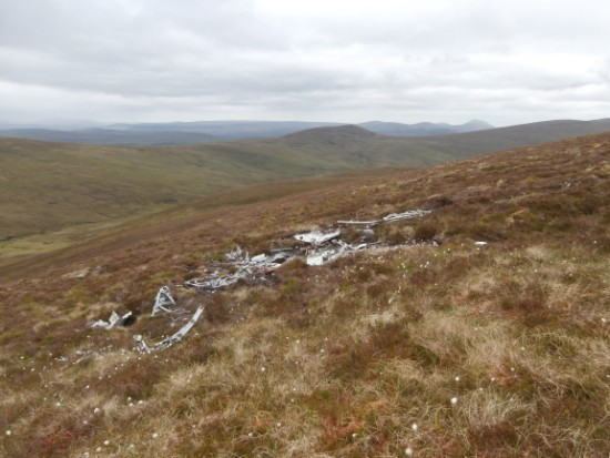 Crash site of Vickers Wellington Mk.IC R1093 on Carn Garbh near Brora, Sutherland