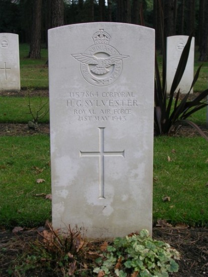 Grave of Corporal Harry Grant Sylvester at Brookwood Military Cemetery