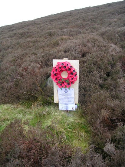 Monument near the crash site of Avro Lancaster RA571 on Beamsley Beacon, Yorkshire