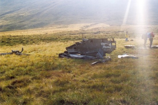 Wing from Canadair Sabre XD730 / XD707 near the crash site on Ashop Moor, Derbyshire