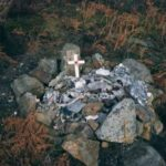 Wreckage at the crash site of Halifax JB926, Slipstone Crags, Colsterdale, Yorkshire
