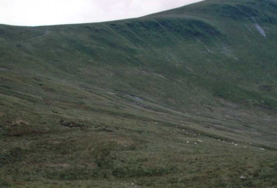 Area where Westland Lysander T1655 crashed between Cadair Berwyn and Cadair Bronwen