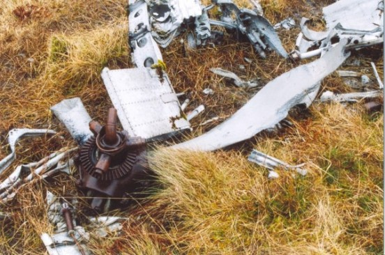 Propeller at the crash site of Vickers Wellington T2707 in Glen Affric