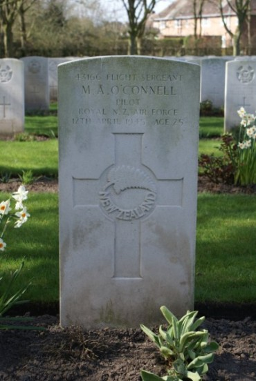 Grave of Flight Sergeant Michael Augustine O'Connell at Chester Blacon Cemetery