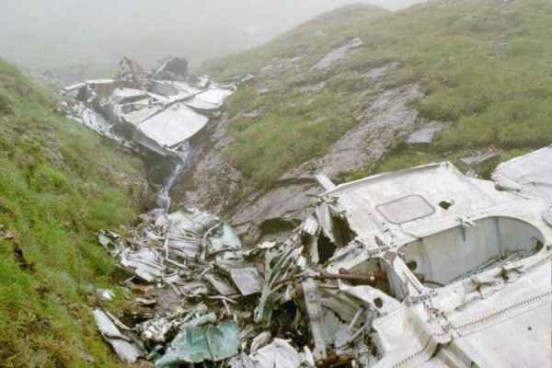 Wings at the crash site of Lockheed Hudson T9432 on Ben Lui