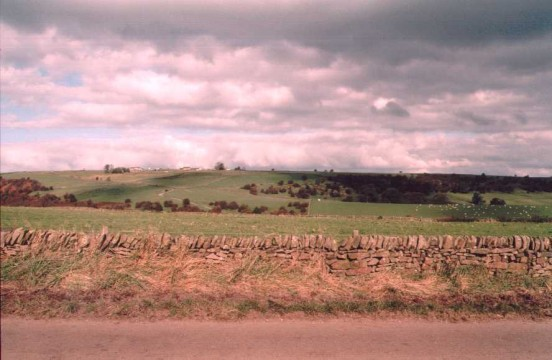 View towards the crash site of Airspeed Oxford Mk.II V3626 on Fawside Edge near Longnor, Staffordshire
