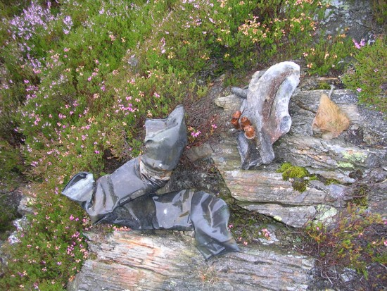 Wreckage at the crash site of Hawker Hurricane V7539 on Scar Crags, Keswick