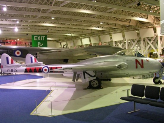 de Havilland Vampire Mk.3 at the Royal Air Force Museum, Hendon