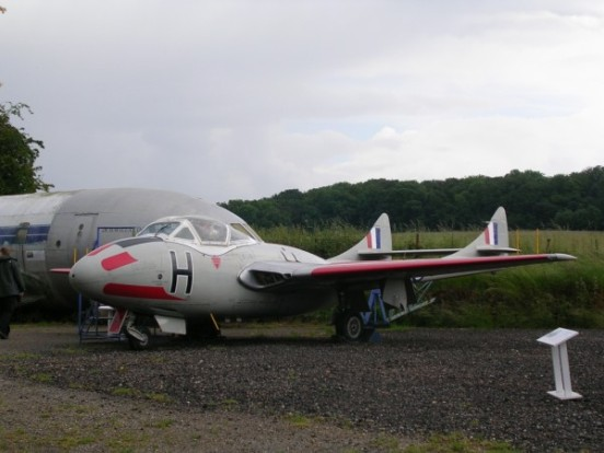 de Havilland Vampire T. Mk.11 at the de Havilland Museum, London Colney