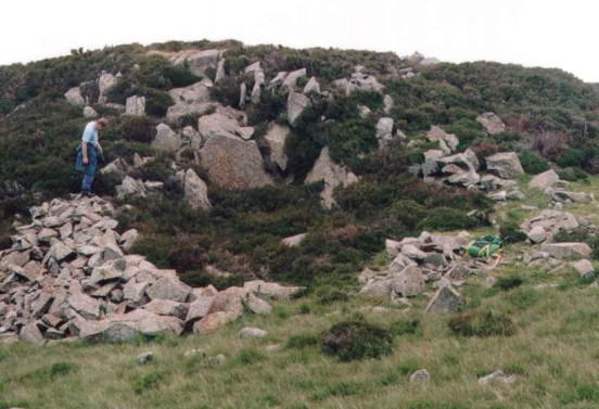Crater at the crash site of de Havilland Vampire VV601 near Llyn Eigiau, the Carneddau, Snowdonia