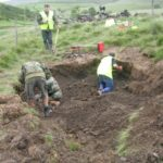 Excavating the crash site of de Havilland Vampire VV602, Wildboarclough, Macclesfield, Cheshire