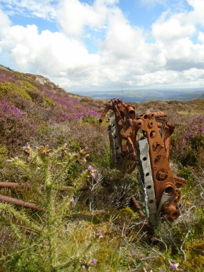 Undercarriage oleo from Avro Anson VV955, which crashed on Foel Lwyd, Conwy