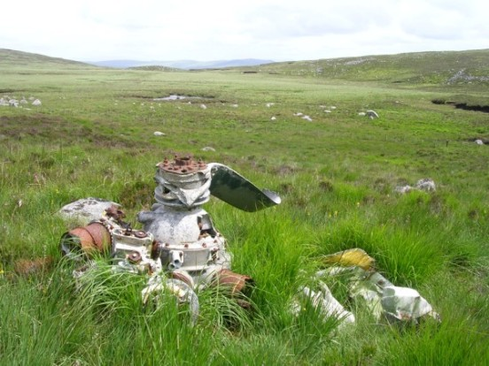 Armstrong Siddeley Cheetah engine at the crash site of Avro Anson W2630 on Cairnsmore of Fleet