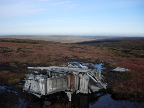 Section of wing at the crash site of Blackburn Botha W5103 on Round Hill, Bleaklow, Longdendale