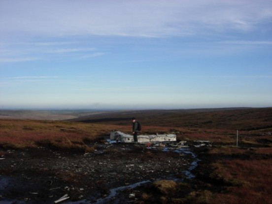 Crash site of Blackburn Botha W5103 on Round Hill, Bleaklow, Longdendale