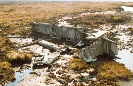 Wing spar at the crash site of Blackburn Botha W5103 on Round Hill, Bleaklow, Longdendale