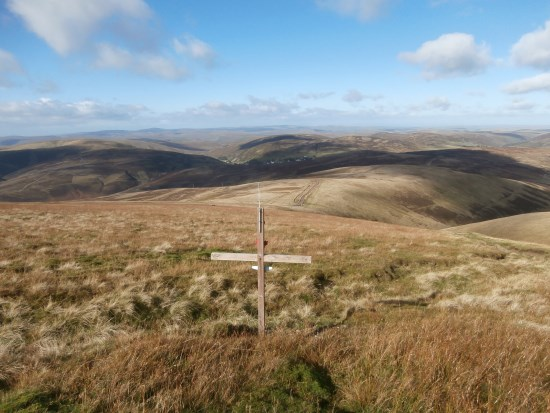 The crash site of Hawker Hurricane Mk.I W9112 on Lowther Hill