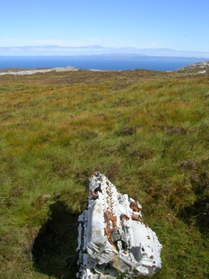 Rolls Royce Griffon engine at the crash site of Fairey Firefly WB336 on Beinn Uraraidh, Isle of Islay