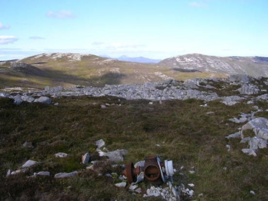 Propeller hub at the crash site of Fairey Firefly WB336 on Beinn Uraraidh, Isle of Islay