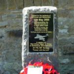 Memorial unveiling close to the crash site of Gloster Meteor WE904 at Millthorpe near Chesterfield, Derbyshire