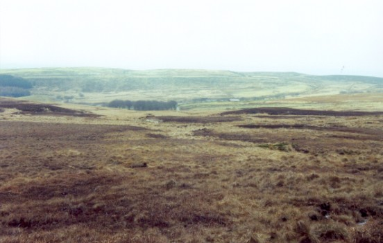 Crash site of de Havilland Canada Chipmunk WP968 on Smithills Moor, Winter Hill, Bolton, Lancashire
