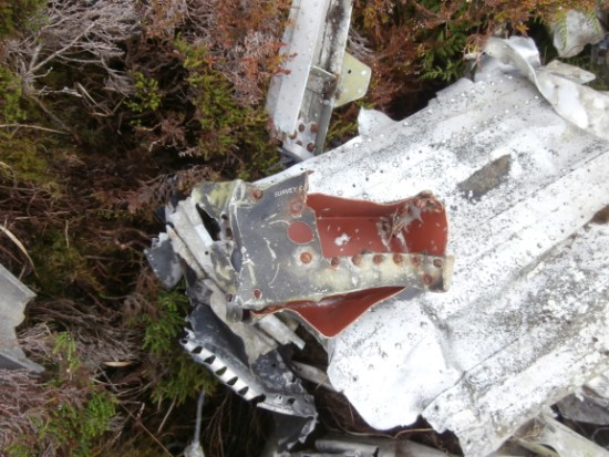 Crash site of English Electric Canberra P.R Mk.7 WT531 on Sron Gharbh, Scaraben, Berriedale, Caithness