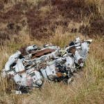 Wright Cyclone engine at the crash site of Lockheed Neptune WX545 on Beinn na Lice, Mull of Kintyre