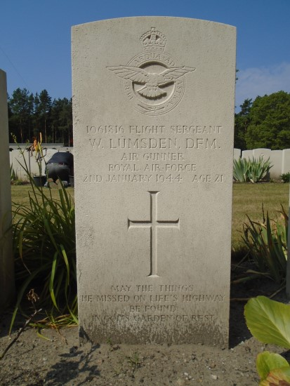 Grave of Sergeant William Lumsden at Berlin 1939-1945 War Cemetery