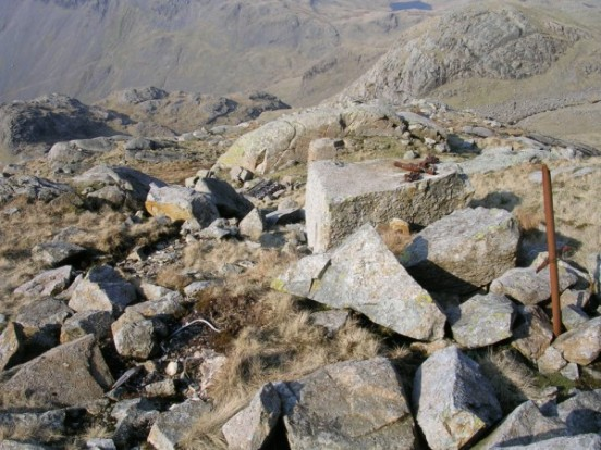 The crash site of de Havilland Dominie X7394 on Broad Crag, Scafell Pike