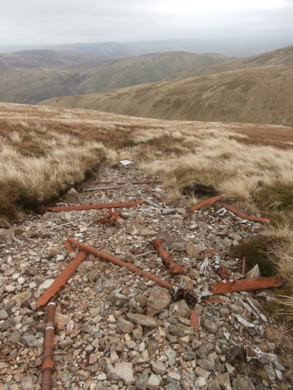 Crash site of de Havilland Dominie X7400 on Dollar Law near Peebles, Scottish Borders