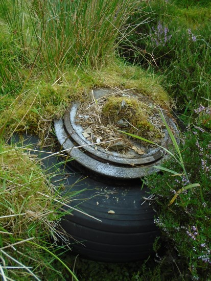 Main wheel and tyre from Gloster Javelin XA825 on Emly Bank