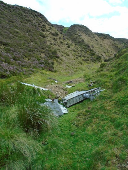Wreckage from the tail of Gloster Javelin XA825 on Emly Bank, Midlothian