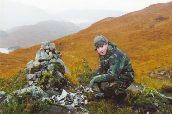 Alan at the crash site of Avro Shackleton XF702 on Creag Bhan, Lochailort