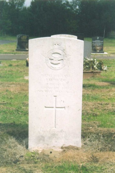 Grave of Sergeant John William Bode at Buxton Cemetery, Derbyshire