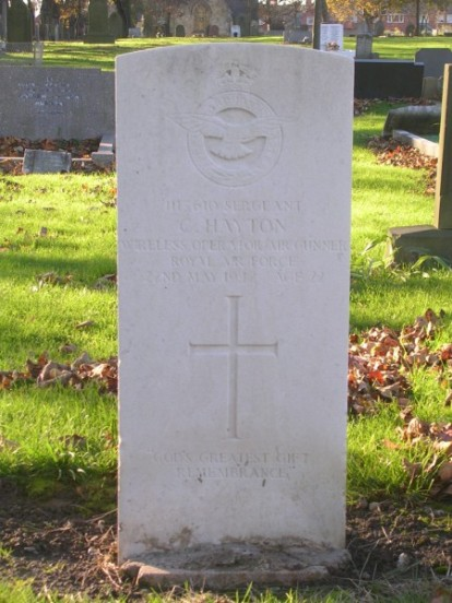 Grave of Sergeant Cyril Hayton at Heaton & Byker Cemetery, Newcastle-upon-Tyne