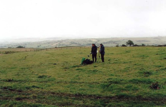 Crash site of Vickers Wellington Z1566 at Grindon, Staffordshire, in September 2004
