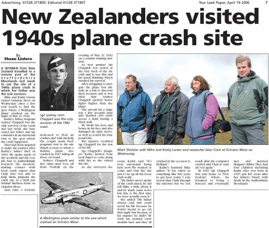 Newspaper article about the crash from Your Leek Paper