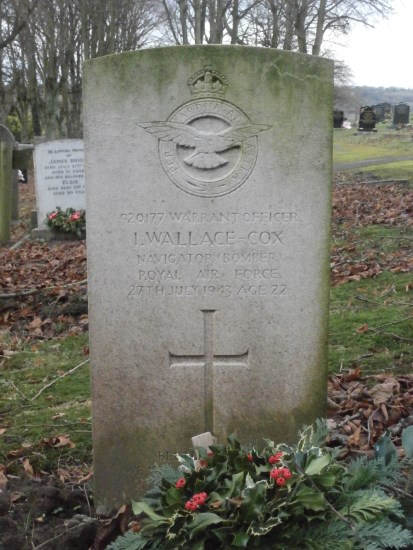Grave of Warrant Officer Ian Wallace-Cox at Ashbourne Cemetery