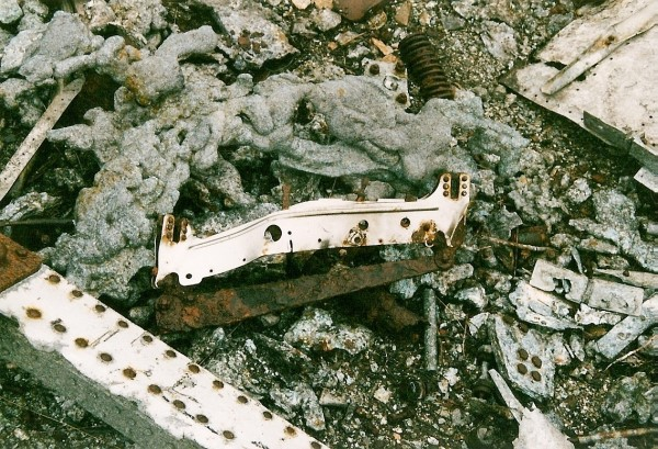 Wreckage from Martin B-26C 41-34707 at the crash site on Beinn na Fuesaige, Glen Carron