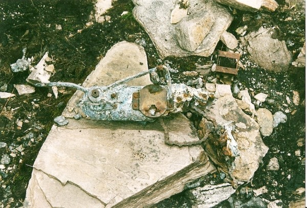 Control yoke from Martin B-26C 41-34707 at the crash site on Beinn na Fuesaige, Glen Carron