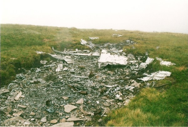 Crash site of B-26C 41-34707 on Beinn na Fuesaige near Achnasheen, Glen Carron